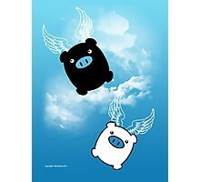 TWIN PIGS FLYING Photographic Print
