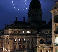 Lightning On Rivadavia 2 by BalancedArt