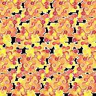 Firery Curlicules Pattern by Wealie