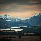 Dawn in the Hawea Valley, New Zealand by Neville Jones
