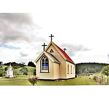 St Mary's Anglican Church, Mamaranui, NZ. Photographic Print
