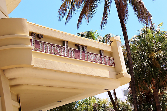 Lincoln Road Theater South Beach by Rene  Triay