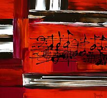 Red Piano 3 by FroyleArt