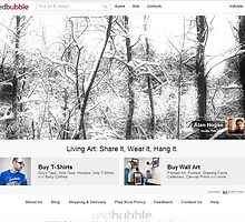 'Spook in the snow' - Redbubble Homepage feature -  by Alan Hogan