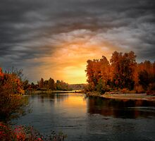 Fall Is In The Air ~ Willamette River ~ by Charles & Patricia   Harkins ~ Picture Oregon