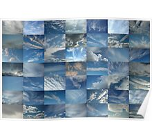 Patchwork of Clouds in a Blue Sky Poster