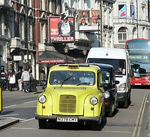 Yellow Taxi, London by SoulSparrow