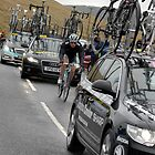 Catching Up, The Tour of Britain 2011, near Peebles by rosie320d