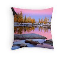 Pink Gnome Tarn Throw Pillow