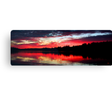 9-7-11 Lake Ozonia Sunset Canvas Print