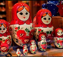 Babushka Dolls by Pauline Tims
