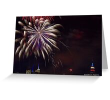Untitled, ID4 Over the City Hudson Greeting Card