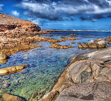 Rockpool at Talia Caves by Simon Bannatyne