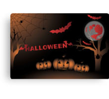 Halloween illustration Canvas Print