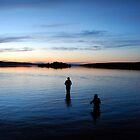 Night Swim - Lunenburg, Nova Scotia by Caites