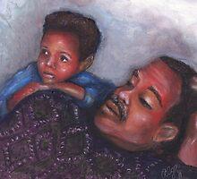 A Boy and His Dad by Alga Washington