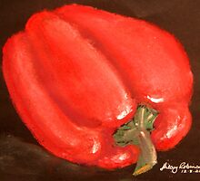 Red pepper by Hilary Robinson