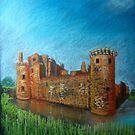 Caerlaverock Castle, Scotland by Hilary Robinson