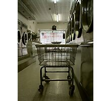 in the washing saloon Photographic Print