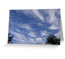 Scattered wispy clouds Greeting Card