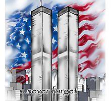 """9/11 Tribute"" Photographic Print"