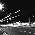 Light Trails - Bateau Bay by Jacob Jackson