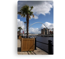 Palm Tree on the Tyne Canvas Print