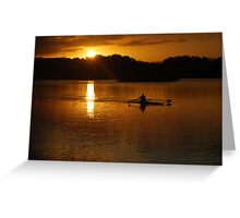 Rowing Home Greeting Card
