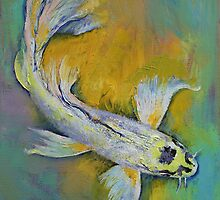 Kujaku Butterfly Koi by Michael Creese