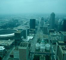 Downtown St. Louis from the Arch - (1986) by Dwaynep2010