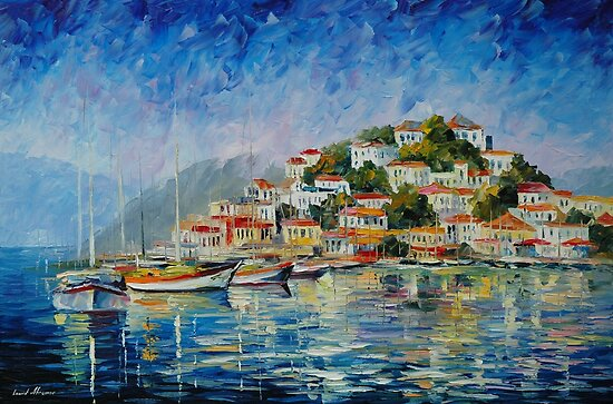 MORNING HARBOR - LEONID AFREMOV by Leonid  Afremov