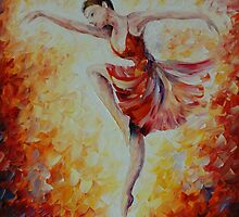 FLAMING DANCE - Leonid Afremov by Leonid  Afremov