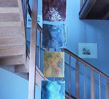 Four torsos in a stairway by Catrin Stahl-Szarka