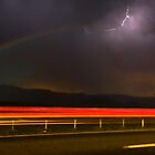 "MOONBOW AND LIGHTENING (""Rainbow in the Dark"") by George Trimmer"