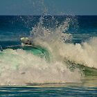 Dumped by a wave - Tallow's Beach by benjilach