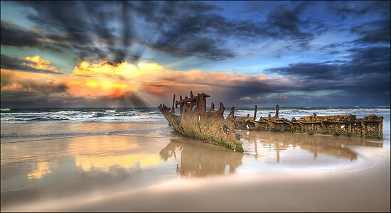 Sunrise Shipwreck by Shannon Rogers