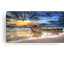 Sunrise Shipwreck Canvas Print