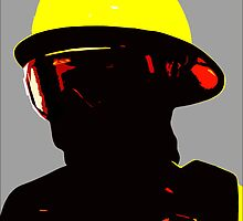 """""""Fireman"""" - Work in which describe image of forest fireman by Mikle"""