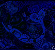'Secret Treasures of the Fateful Mermaid ~ Deep Blue' Pieces Art™ by Kayla Napua Kong