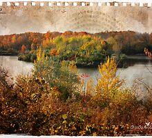 Torn sheet of Fall by Olga