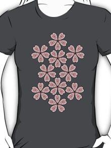 Flower Heart Pattern T-Shirt