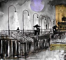 i walked along St Kilda Pier by Loui  Jover