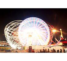 Light Web Light Wheel Photographic Print