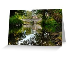 """""""Bridge over the river Clun"""" Greeting Card"""