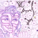 &#x27;Alight with Blossom ~ Intended Lavender&#x27; Pieces Art by Kayla Napua Kong
