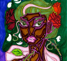 'Beauty Stems from Rose Thorns' ~ Vibrant Pieces Art™ by Kayla Napua Kong