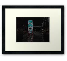 Neon Crown Fountain Framed Print