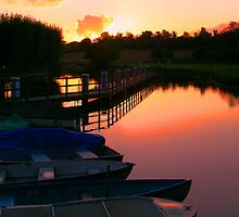 Shiplake sunset by Neil  Pickin