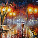 LONELINESS IN THE FOG - AFREMOV by Leonid  Afremov