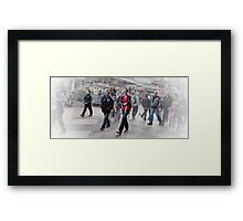 Walk This Way. Framed Print
